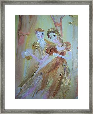 Romantic Encounter Framed Print by Judith Desrosiers