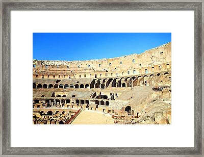 Rome Coliseum Framed Print by Valentino Visentini