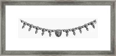 Rome: Gold Necklace Framed Print by Granger