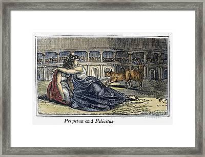 Rome: Perpetua & Felicitas Framed Print by Granger