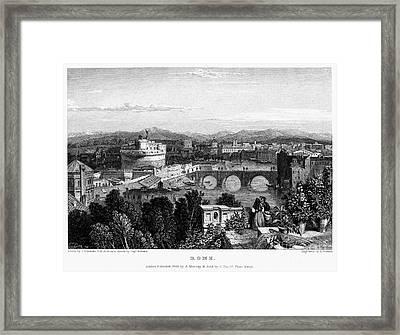 Rome: Scenic View, 1833 Framed Print by Granger