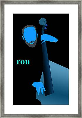 Ron Carter Blue Framed Print by Victor Bailey