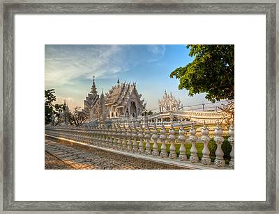 Rong Khun Temple Framed Print by Adrian Evans