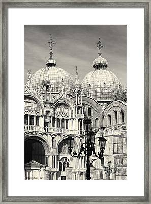 Roof And Facade Of St Mark Basilica  Framed Print by George Oze