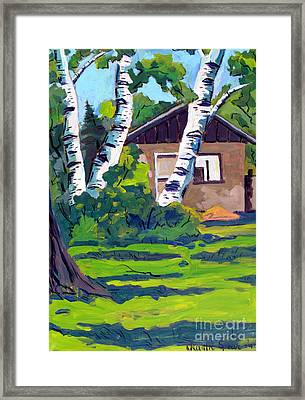 Roofless Hoosier Hills Orchard Framed Print by Charlie Spear