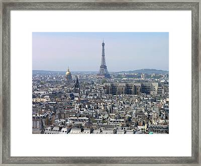 Roofs Of Paris From The Notre Dame Framed Print by Romeo Reidl