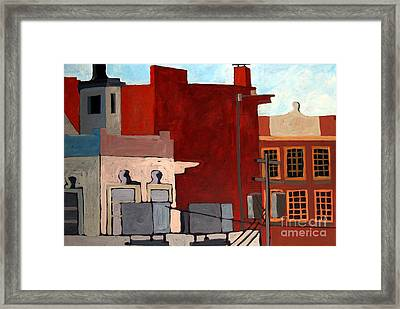 Rooftops Framed Print by Charlie Spear