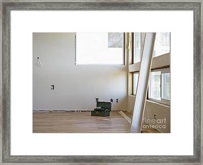 Room Remodeling Framed Print by Andersen Ross