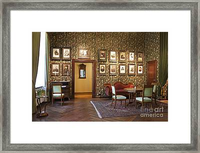 Room With Framed Portraits Framed Print by Jaak Nilson