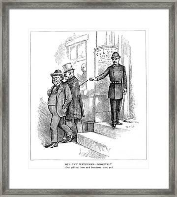 Roosevelt Cartoon, 1884 Framed Print by Granger