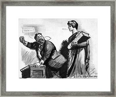 Roosevelt Cartoon, C1916 Framed Print by Granger
