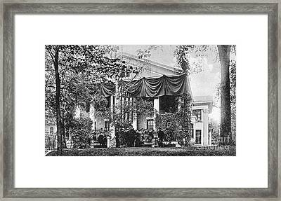 Roosevelt: Oath Of Office Framed Print by Granger