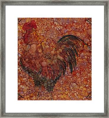 Rooster 4 Large Framed Print by Rosie Phillips