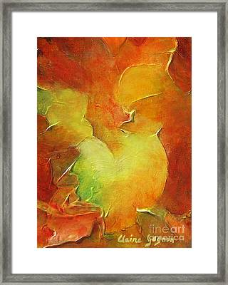 Rooster Framed Print by Claire Gagnon