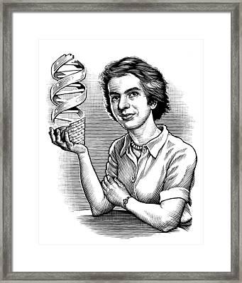 Rosalind Franklin, British Chemist Framed Print by Bill Sanderson