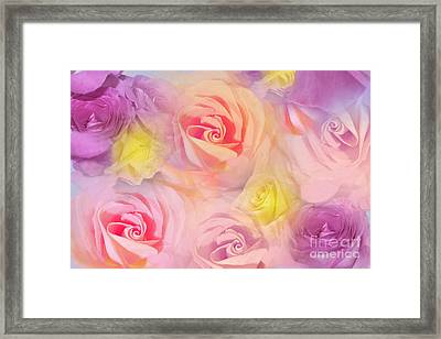 Rose Bouquet Framed Print by Cindy Lee Longhini
