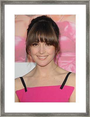 Rose Byrne At Arrivals For Bridesmaids Framed Print by Everett