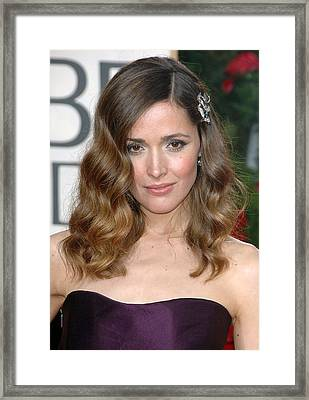 Rose Byrne Wearing A Neil Lane Brooch Framed Print by Everett