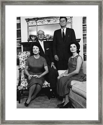 Rose Kennedy, Joseph P. Kennedy, John Framed Print by Everett