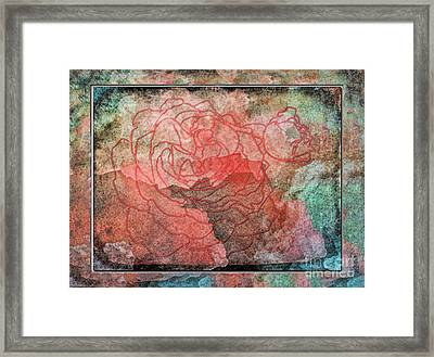 Rose Outline Abstract Framed Print by Debbie Portwood