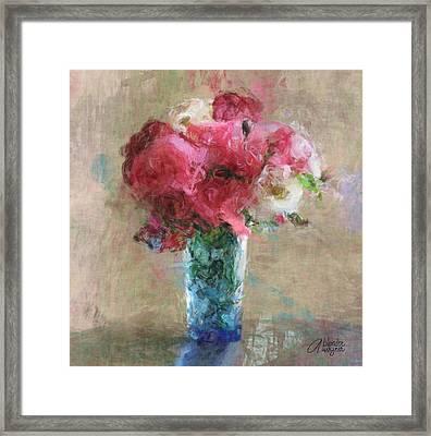 Roses For Mom Framed Print by Arline Wagner