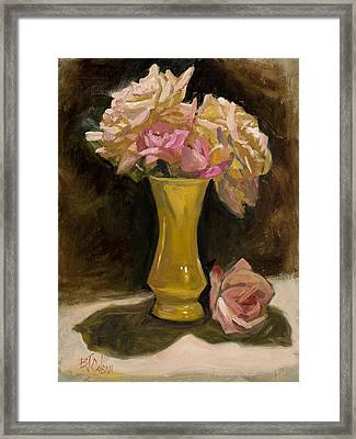 Roses From A Friend Framed Print by Billie Colson