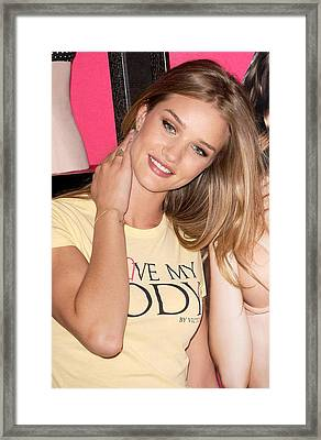 Rosie Huntington-whiteley At In-store Framed Print by Everett