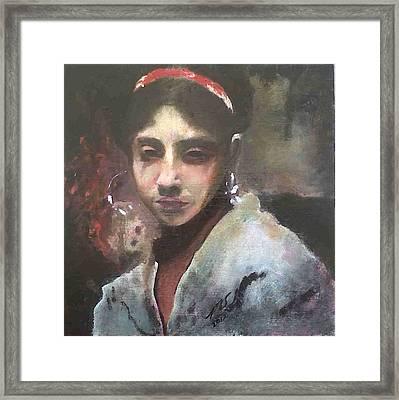 Rosina Framed Print by Paula Steffensen