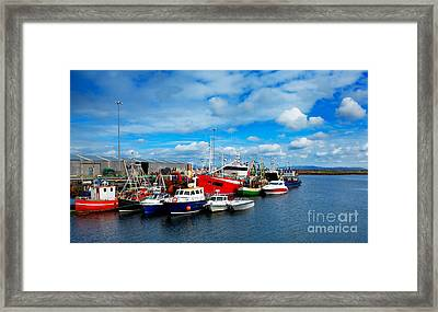 Rossaveel Harbour Framed Print by Gabriela Insuratelu