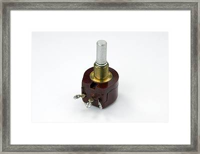 Rotary Potentiometer Framed Print by Trevor Clifford Photography
