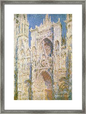 Rouen Cathedral Framed Print by Claude Monet