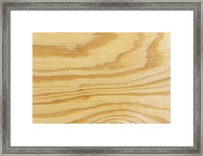 Rough Textured Plywood Grain Framed Print by Chris Rose
