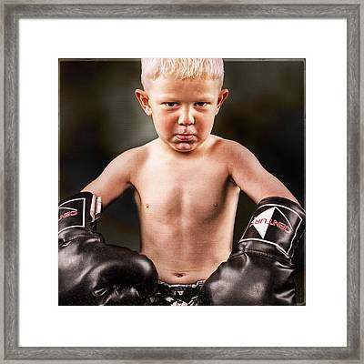 Round 1 Framed Print by DMSprouse Art