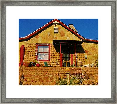 Round Rock House Framed Print by Sharon Farris