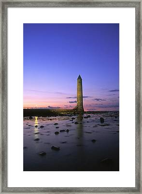 Round Tower, Larne, Co Antrim, Ireland Framed Print by The Irish Image Collection