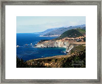 Route 1  California Pacific Coast  Framed Print by The Kepharts