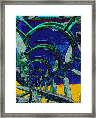 Route 66 2050 Framed Print by Alec Drake
