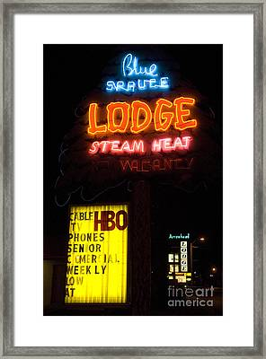Route 66 Blue Spruce Gallup Framed Print by Bob Christopher