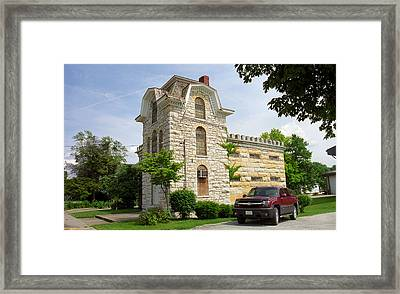Route 66 - Macoupin County Jail Framed Print by Frank Romeo