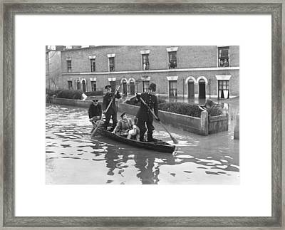 Rowing On The Beat Framed Print by Topical Press Agency