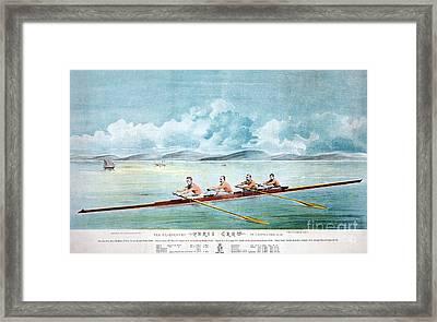 Rowing Team, C1875 Framed Print by Granger