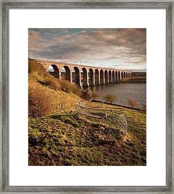 Royal Border Bridge, Berwick-upon-tweed Framed Print by David Tait