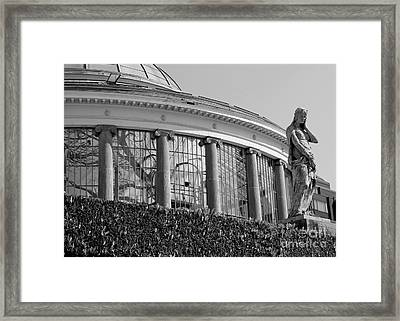 Royal Conservatory In Brussels - Black And White Framed Print by Carol Groenen