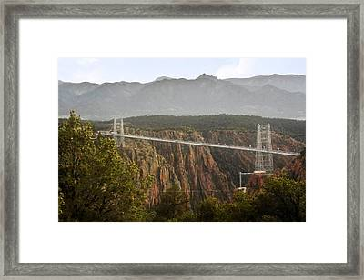 Royal Gorge Bridge Colorado - The World's Highest Suspension Bridge Framed Print by Christine Till