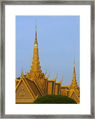 Royal Palace Roof. Framed Print by David Freuthal