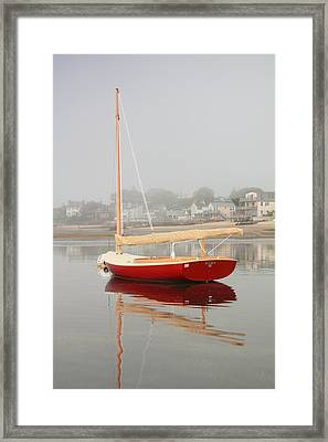 Ruby Red Catboat Framed Print by Roupen  Baker