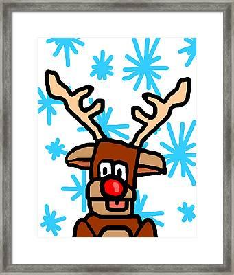 Rudolph's Portrait Framed Print by Jera Sky