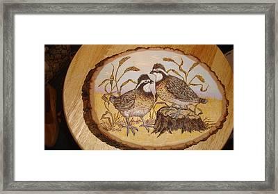 Ruffed Grouse Chat Framed Print by Dakota Sage