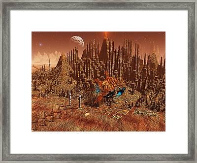 Ruin Framed Print by Diana Morningstar