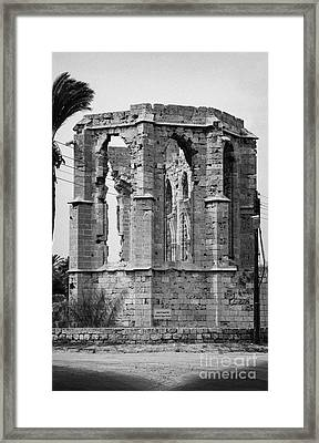 Ruined Church Of St George Of The Latins Famagusta Turkish Republic Of Northern Cyprus Trnc Framed Print by Joe Fox
